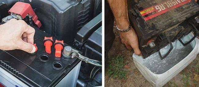 Как заправить аккумулятор электролитом в домашних условиях