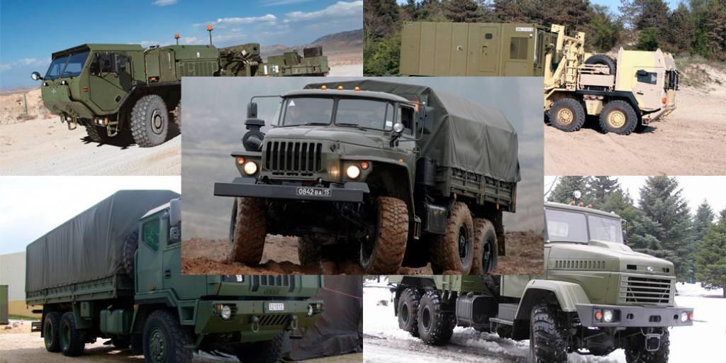 Топ 10   лучшие военные грузовики