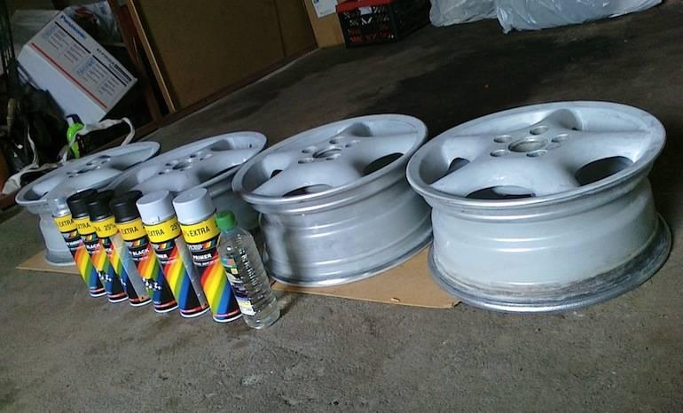 Чем покрасить стальные диски автомобиля самому штамповку