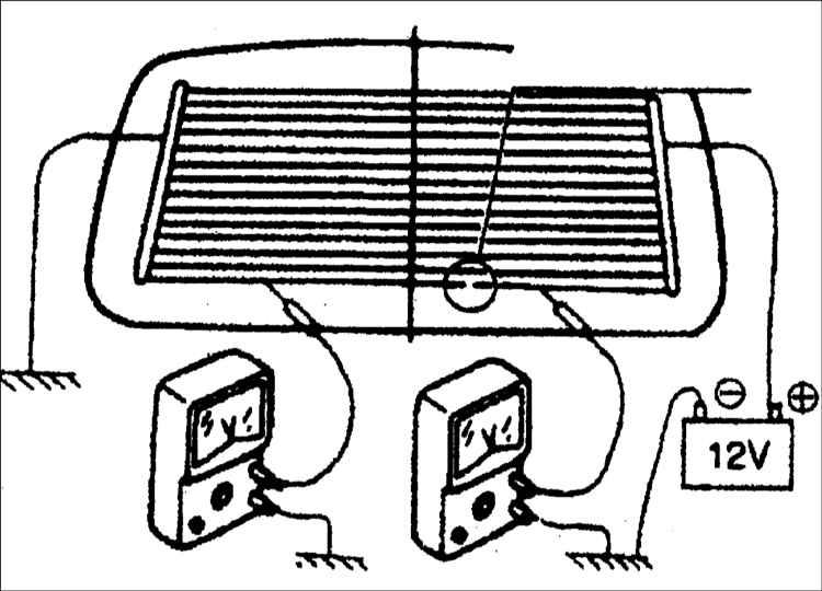 Ремонт нитей обогревателя заднего стекла автомобиля