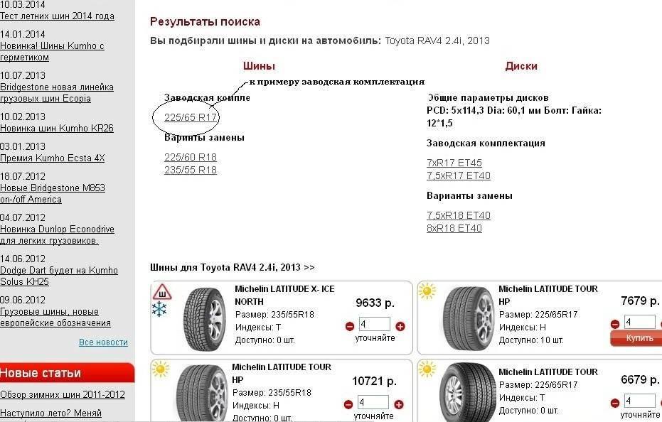 Подбор летних и зимних шин по марке автомобиля на сайте интернет-магазина s-shina.ru