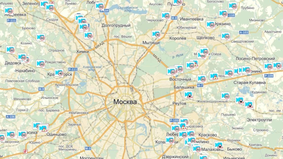 Карта камер гибдд в санкт-петербурге