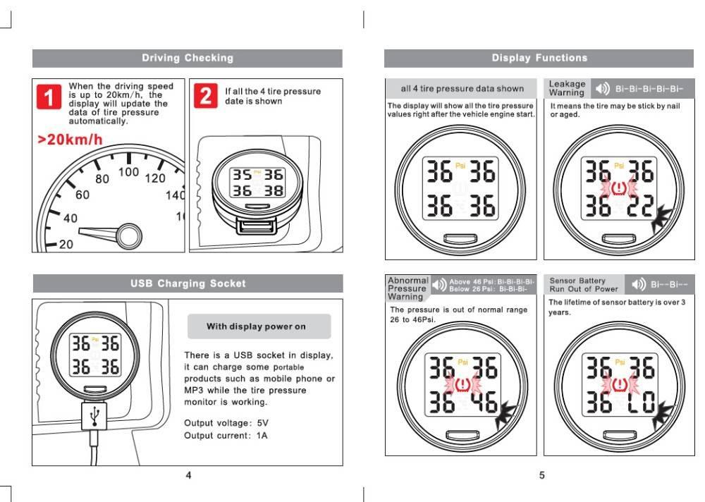 Датчики, измеряющие давление в шинах