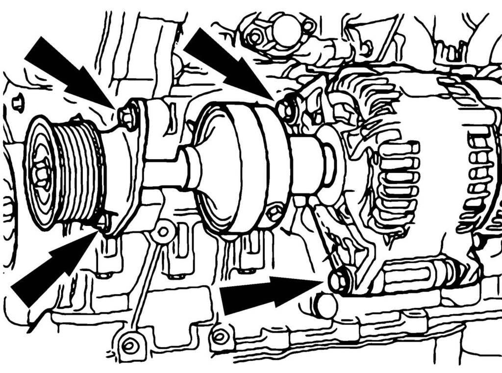 Замена приводного ремня компрессора кондиционера ford focus 2 (1.8-2.0 duratec he)