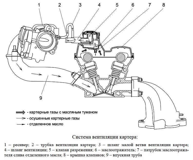 Принцип работы клапана вентиляции картера   авто брянск