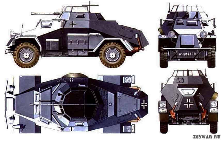 Sd.kfz.221 \ sd.kfz.222 \ sd.kfz.223 разведывательный бронеавтомобиль