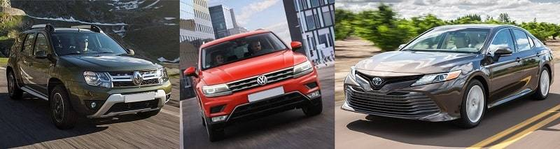 Двухлетние Renault Duster, Toyota Camry и Volkswagen Tiguan стоят дороже, чем новые