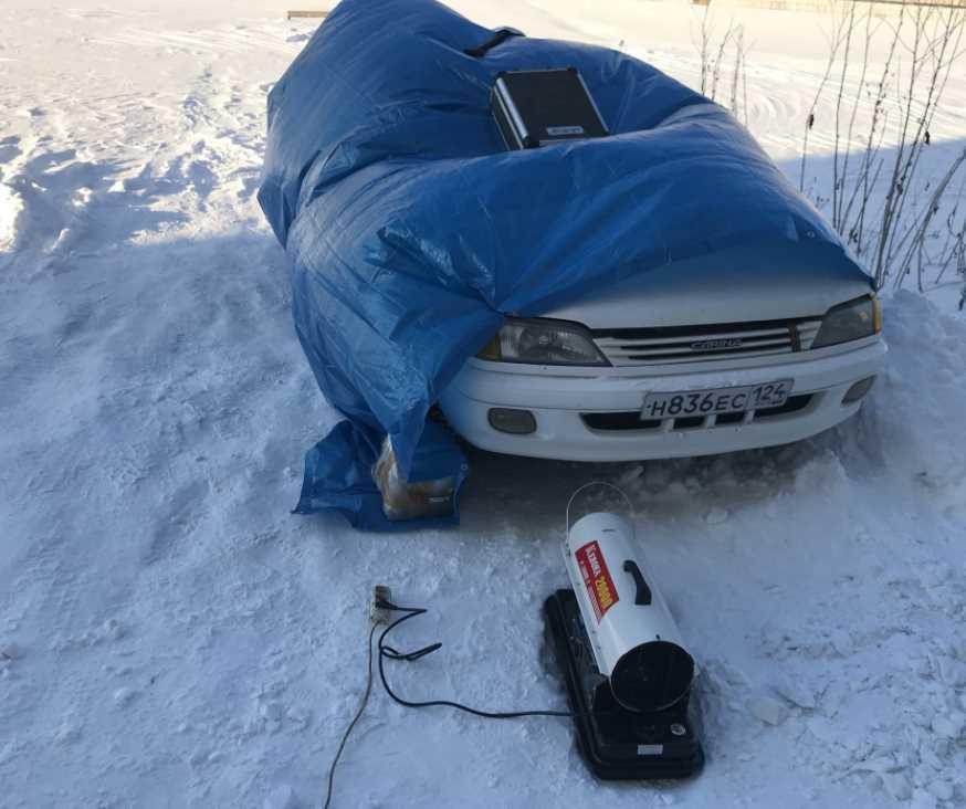 Холодный пуск дизельного двигателя эфиром