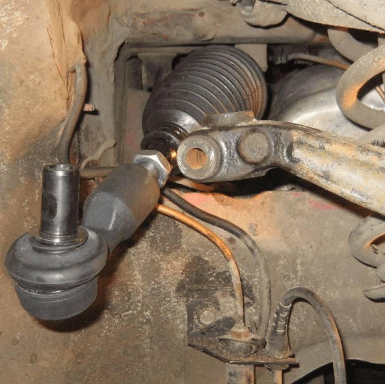 Как заменить наконечник рулевой тяги
