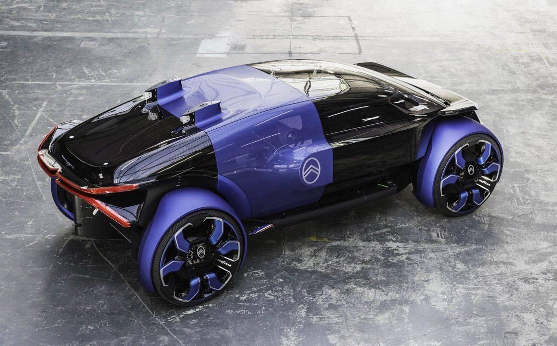 Citroen празднует 100-летие футуристическим электрокаром с емкой батареей