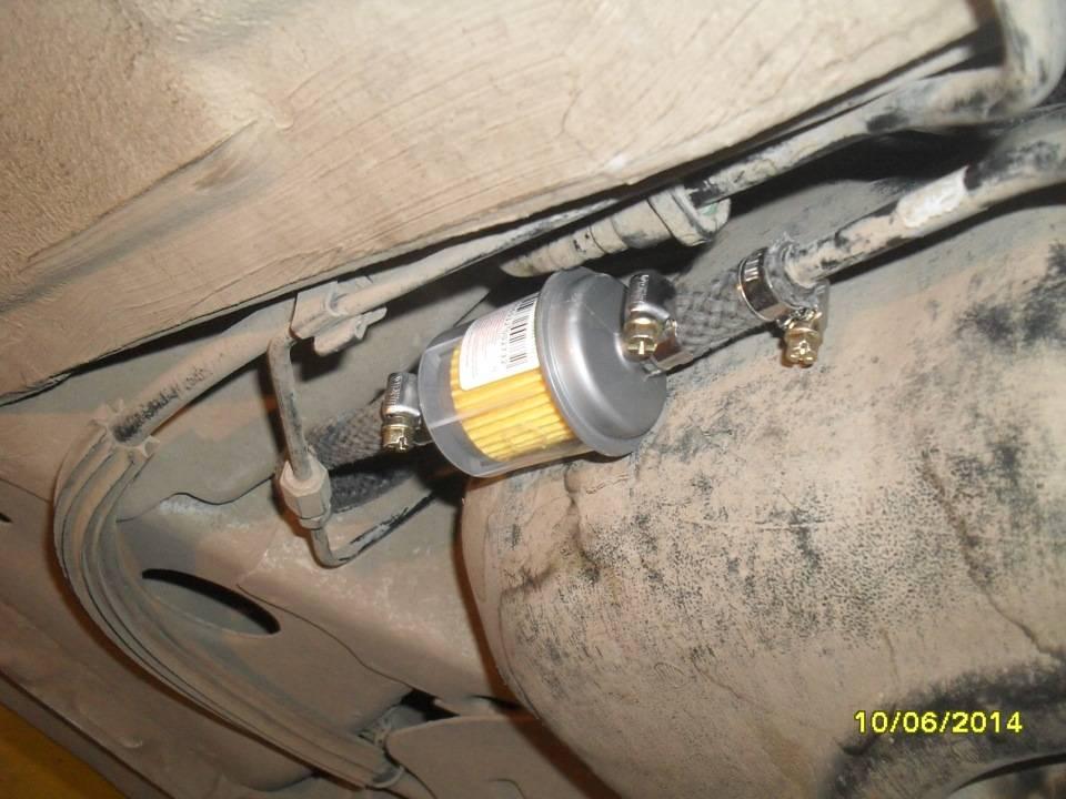 Расположение топливных фильтров на Форд Фокус 1,2,3 с бензиновыми двигателями