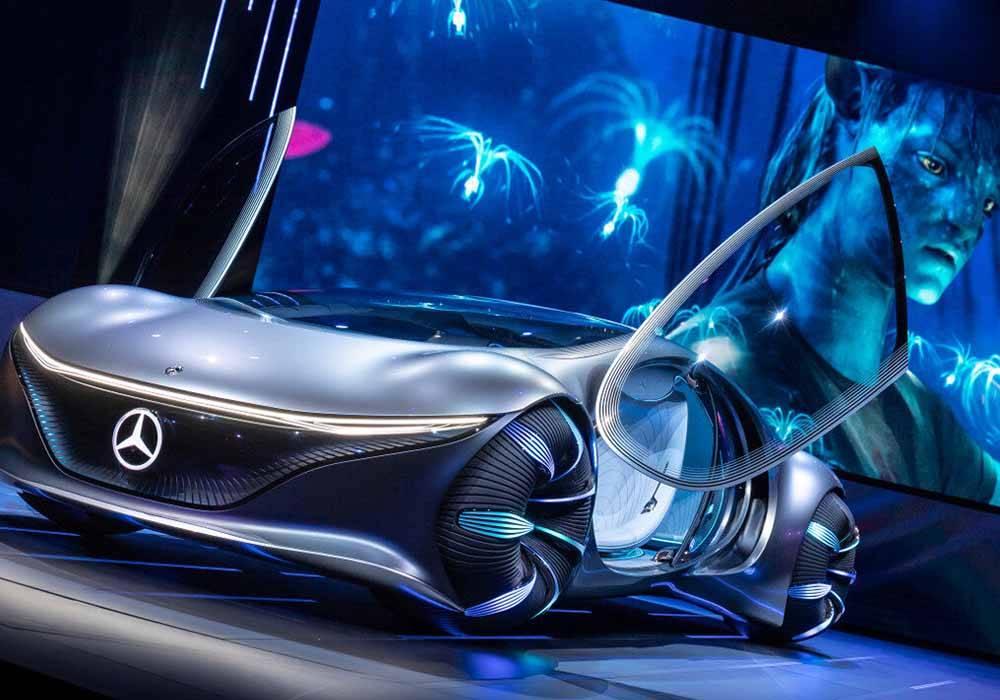 Mercedes Benz VISION AVTR — автомобиль будущего без руля и панели приборов