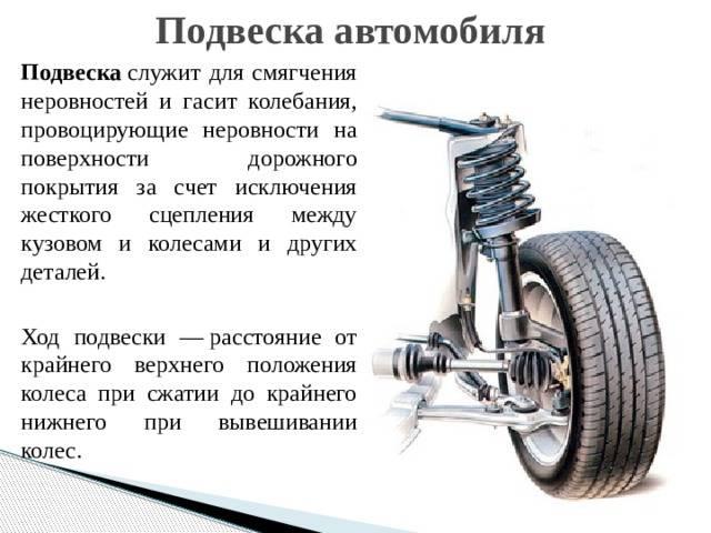 Ходовая часть автомобиля. общие сведения