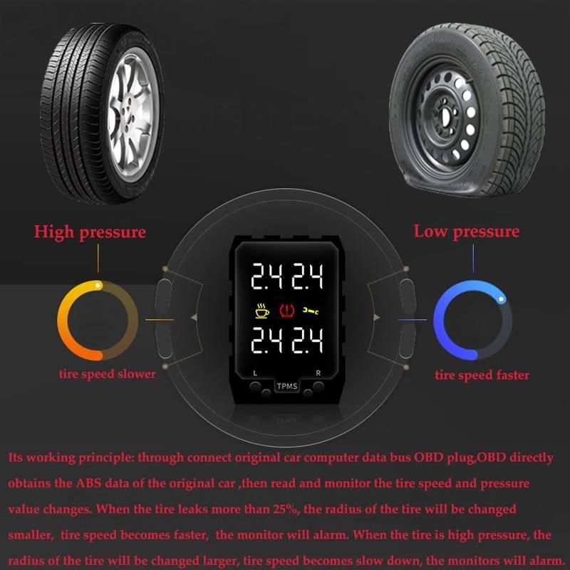 Датчик давления в шинах автомобиля