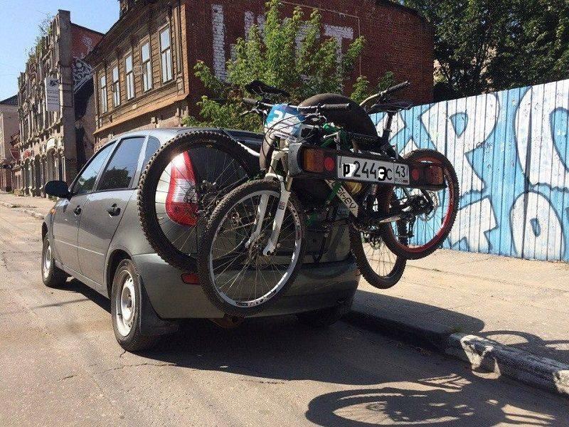 Как перевозить велосипед на автомобиле