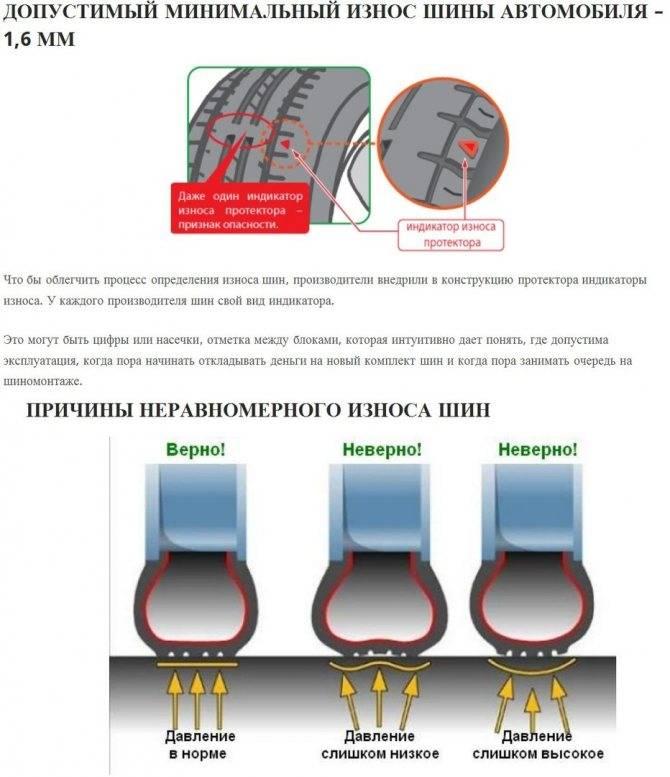 Как определить износ протектора шин. причины износа покрышек автомобиля