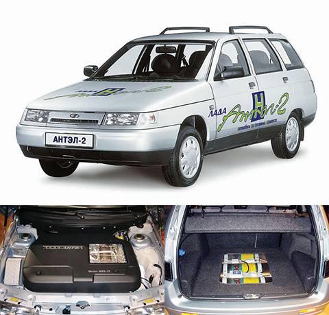 Оао ''автоваз'' представило во франкфурте водородный автомобиль lada antel 2