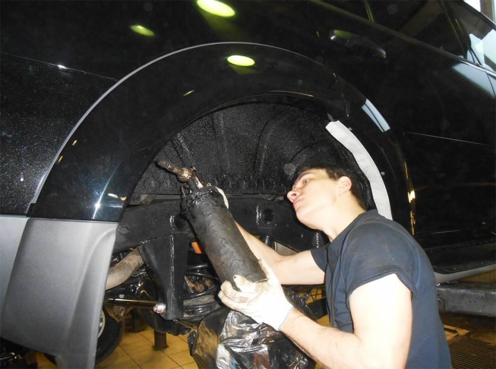 Шумоизоляция колесных арок автомобиля своими руками