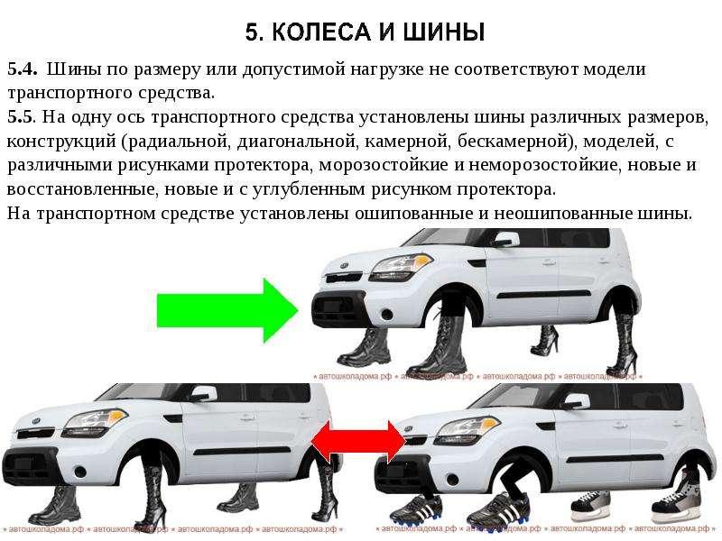 Неисправности при которых запрещена эксплуатация транспортных средств