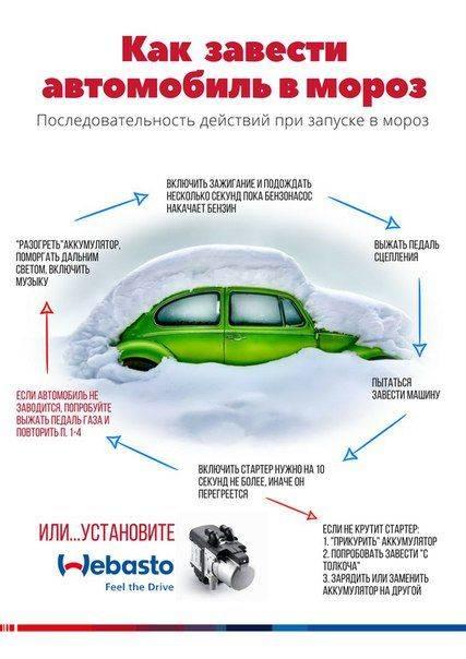 Как завести автомобиль в мороз своими силами » автоноватор