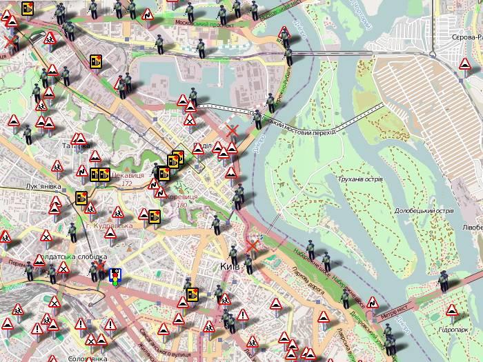 Карта радаров и камер видеофиксации в нижегородской области
