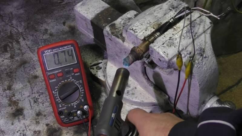 Как проверить лямбда зонд тестером с 4 проводами