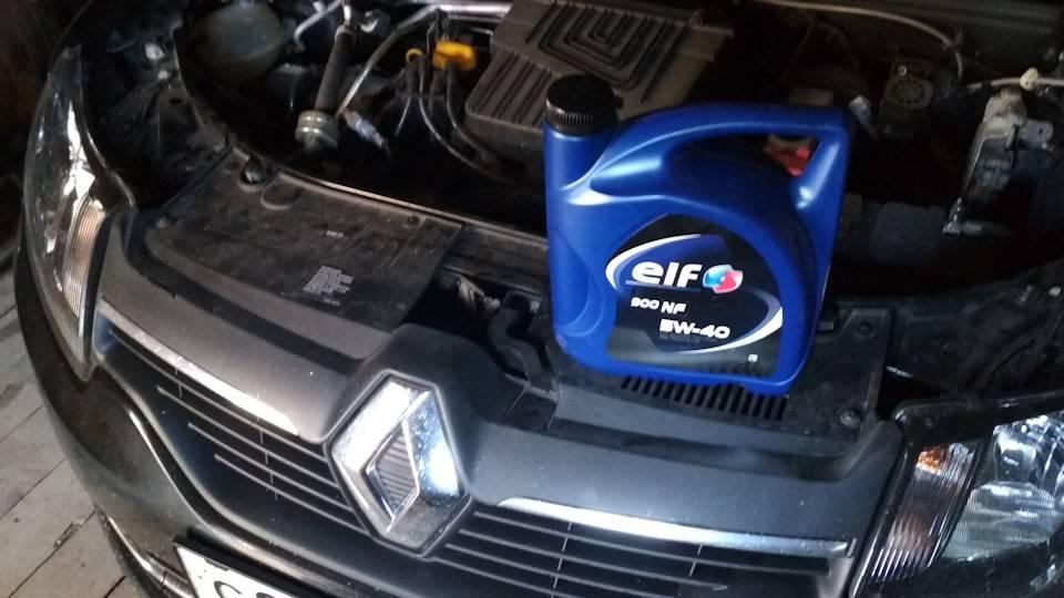 Замена масла двигателя и фильтра рено логан, сандеро (renault sandero, logan)