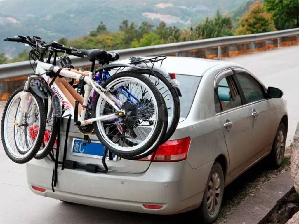 Способы перевозки велосипедов на автомобиле, правила безопасности