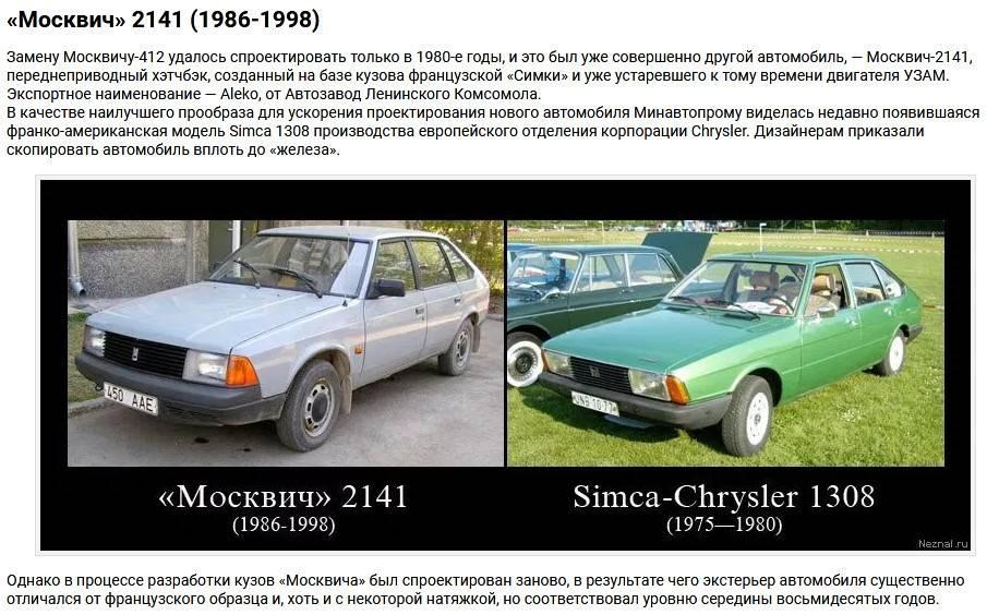 Ах, алеко: вспоминаем факты и развенчиваем мифы про москвич-2141