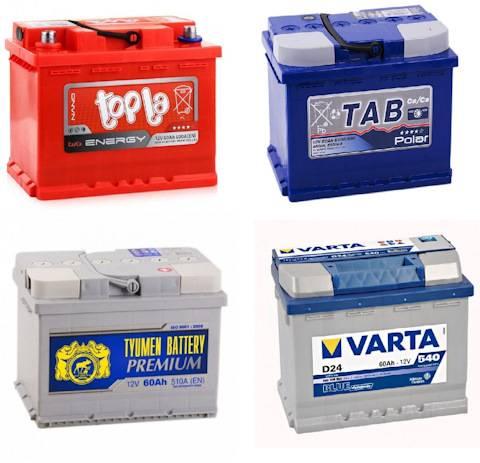 Подбор аккумулятора по марке автомобиля