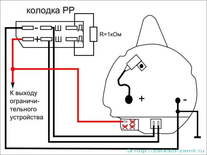 Как подключить тахометр от генератора