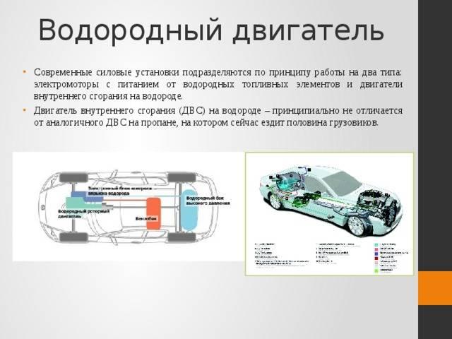 Водородный двигатель для автомобиля: принцип работы, устройство