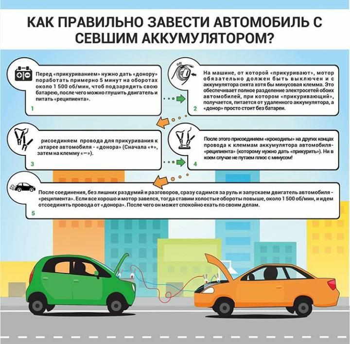 Можно ли прикуривать автомобиль от аккумулятора с заведенным двигателем