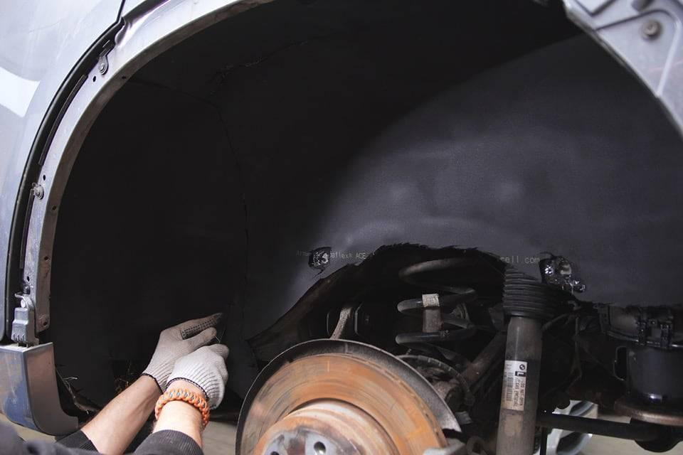 Шумоизоляция внутренних и внешних колесных арок и подкрылок автомобиля от 6000 за пару