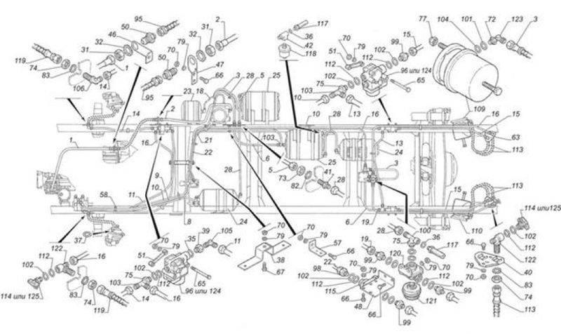 Все о ремонте и устройстве тормозного крана для камаза