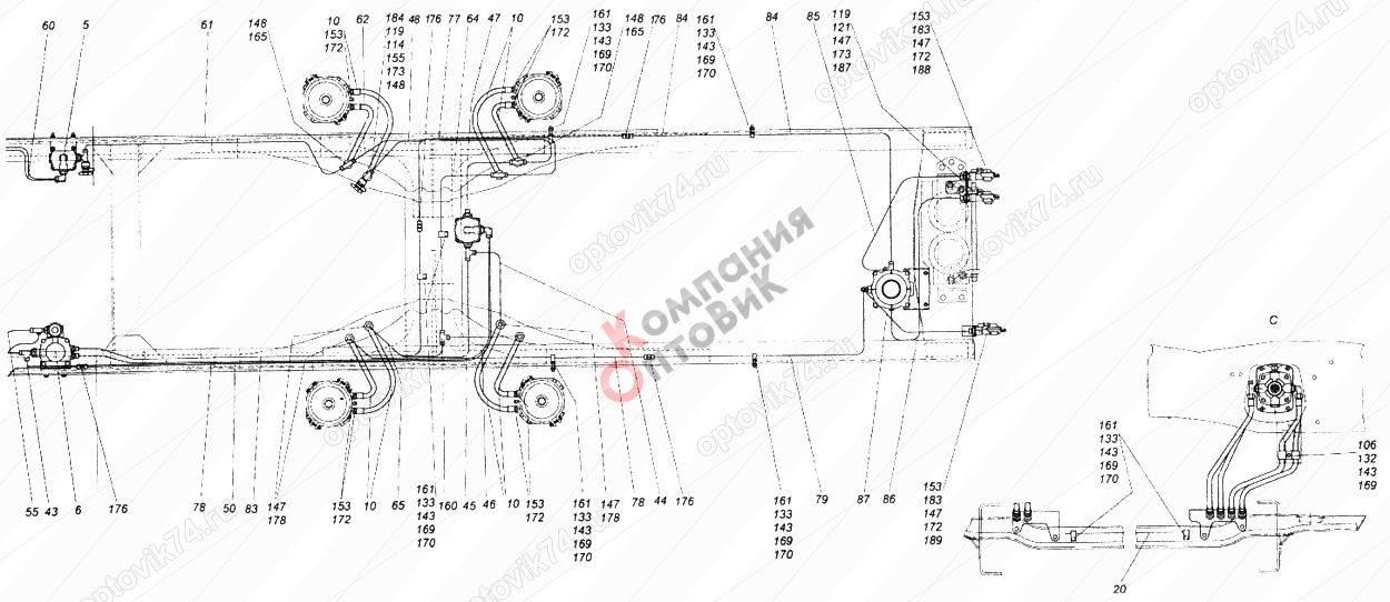 Устройство тормозной системы камаз 5320
