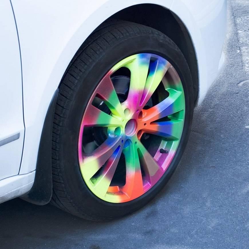 Самостоятельная покраска колесных дисков