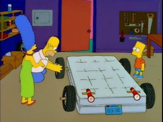 В какой серии гомер сидит на машине. cимпсономания: пять жутких автомобилей, которые мог придумать только гомер симпсон