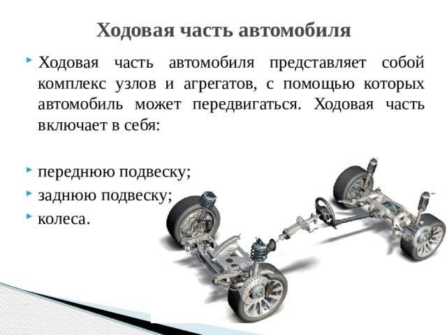 Что такое ходовая часть автомобиля и ее неисправности