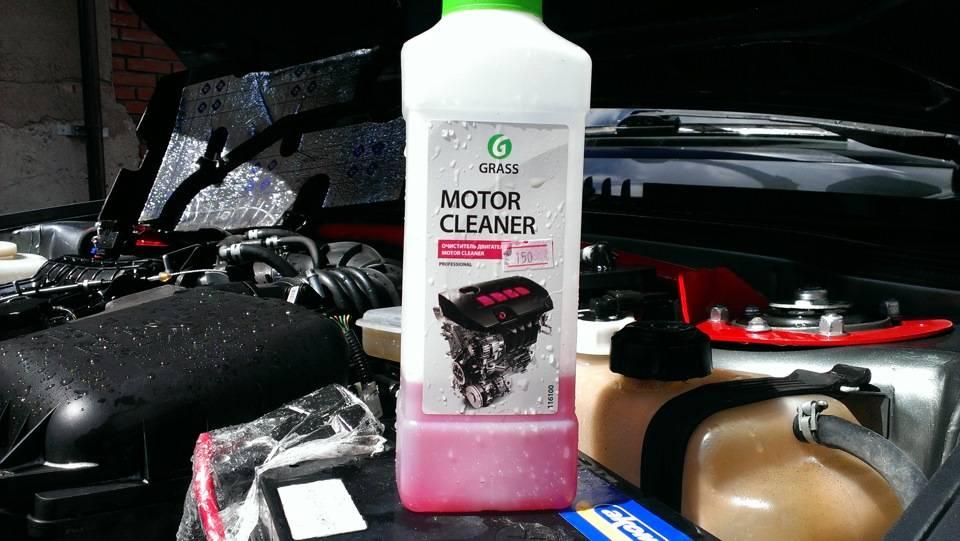 Чем отмыть двигатель от масла и грязи своими руками?