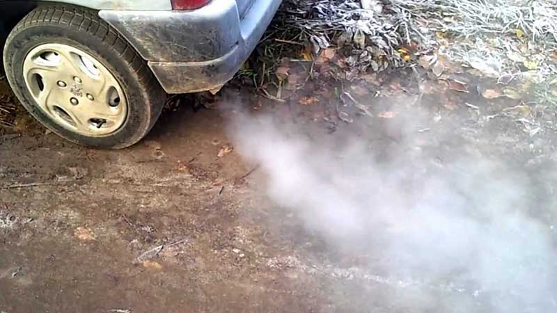 Причины дыма из выхлопной трубы, бензиновый и дизельный двигатель