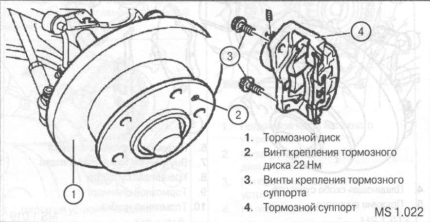 Замена тормозных колодок тормозного механизма переднего колеса део ланос