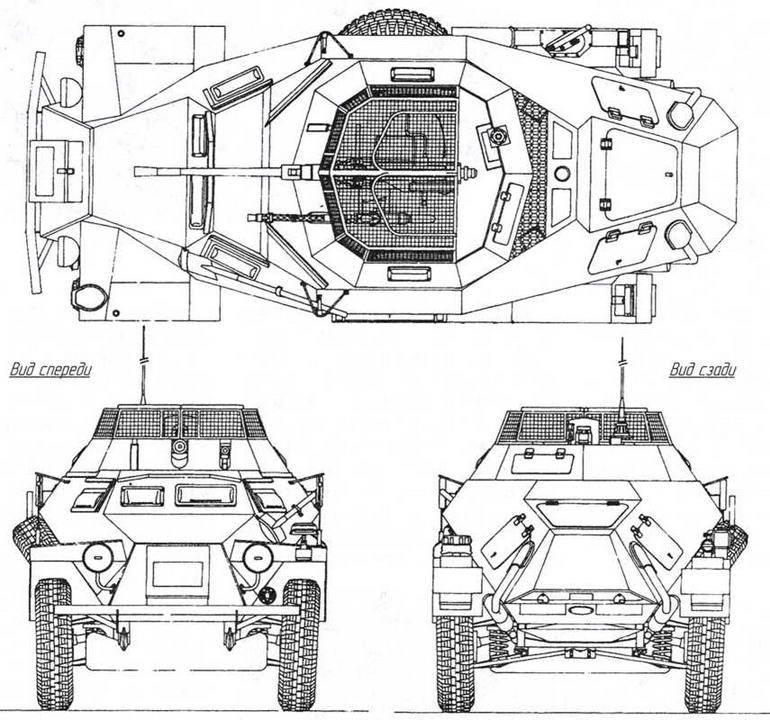Склеиваемая пластиковая модель советский бронеавтомобиль ба-64б с фигурой командира. масштаб 1:48