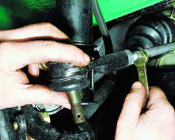 Как заменить наконечник и рулевую тягу своими руками? - иксора