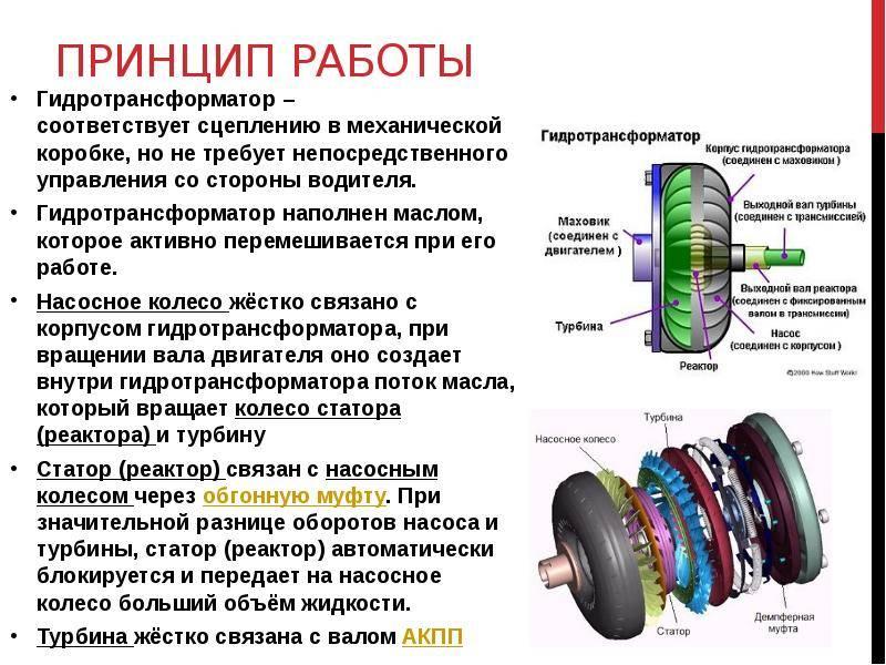 Устройство, принцип работы, неисправности гидротрансформатора АКПП