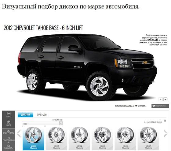 База размеров колесных шин и дисков