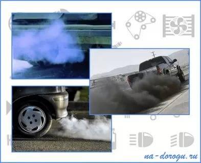 Черный дым из выхлопной трубы: на бензине, карбюраторе, дизеле, инжекторе, причины, что делать