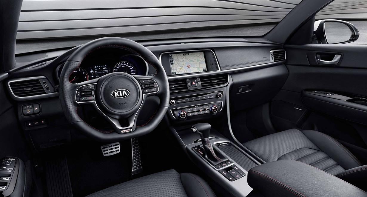 Появились первые фото салона новой Kia Optima