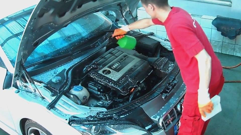 Мойка двигателя автомобиля в домашних условиях – народные средства и методы