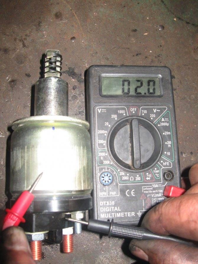 Втягивающее реле стартера: устройство, принцип работы, диагностика и ремонт